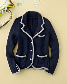 So-Smart Sweater Blazer - Baby Girls
