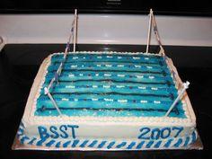 Swim team cake