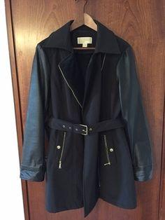 nowy płaszcz bez metek papierowych,michael kors rozmiar L.rękawy i wstawki ze skóry ekologicznej,od wewnątrz ciepła i miła...