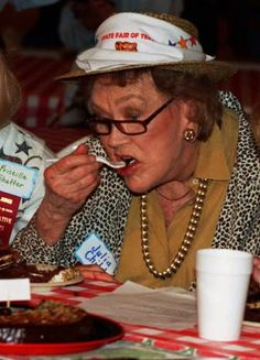 Julia Child judges cakes at the State Fair of Texas, 1996. Posted by Cathy Barber, The Dallas Morning News