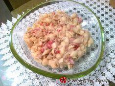 Μακαρονοσαλάτα με τόνο 4 Potato Salad, Potatoes, Ethnic Recipes, Food, Meal, Hoods, Potato, Eten, Meals
