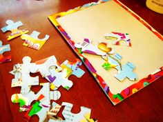 Diy Recycled Cereal Box Puzzle