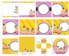 Kit de Minions Girl para imprimir y decorar
