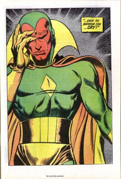 The Vision Marvel Comics Vision Marvel Comics, Bd Comics, Marvel Dc Comics, Marvel Heroes, Marvel Comic Character, Comic Book Characters, Marvel Movies, Comic Books Art, The Avengers