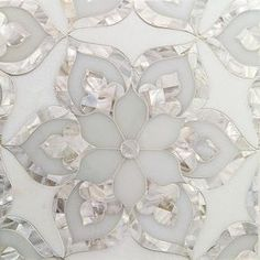 Aurora Marble & Pearl Glass Tile Shop for Aurora with White Thassos Royal White and Pearl Glass and Marble Tile at Beautiful Bathrooms, White Bathrooms, Tile Patterns, Floor Patterns, Kitchen Backsplash, Glass Tile Backsplash, Kitchen Floor, Hexagon Backsplash, Beadboard Backsplash