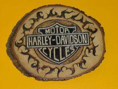 Wood burned H-D.  Harley-Davidson of Long Branch  www.hdlongbranch.com