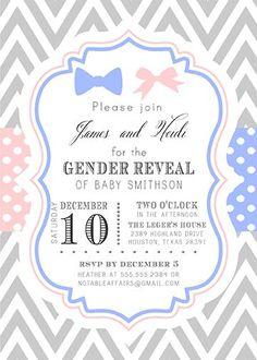 Baby Elephant Gender Reveal Invitation @ Etsy~ considering I call ...