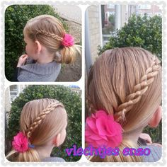 fourstrand braid #cutegirlshairstyles #cutehairstyles #braidsforgirls #girlyhairstyles #girlshairstyles