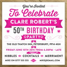 Personalised Celebration Birthday Party Invite by A is for Alphabet, the perfect gift for Explore more unique gifts in our curated marketplace. 70th Birthday Parties, Birthday Party Invitations, Birthday Celebration, Invites, Cd Cases, On The High Street, Funky Fashion, Youre Invited, Spelling