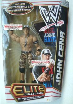 WWE Series 17 Elite Collector John Cena Figure by Mattel. $24.99. Features deluxe articulation, amazing detail, and authentic accessories. Perfect for WWE fans and collectors of all ages. Kids can recreate their favorite WWE matches. Elite Collection Series #17 features authentically sculpted 6-inch figure. Bring home the officially licensed WWE action. From the Manufacturer                World Wrestling Entertainment Elite Collection Series #17: Capturing all the acti...