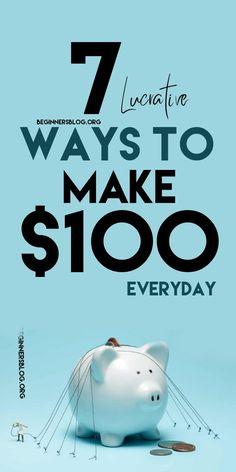 Make 100 A Day, Way To Make Money, Make Money Online, Legitimate Online Jobs, The 100