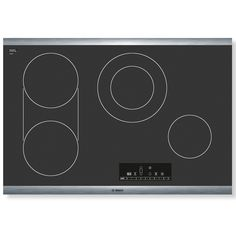 Bosch 800 Series Smooth Surface Electric Cooktop (Black) (Common: 30-in; Actual 31-in) www.lowes.com