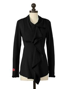 The University of Utah Asymmetric Zip Jacket in Black
