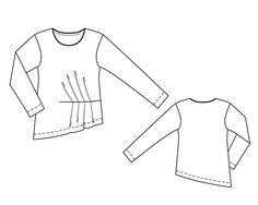Пуловер - выкройка № 132 из журнала 8/2014 Burda – выкройки пуловеров на Burdastyle.ru