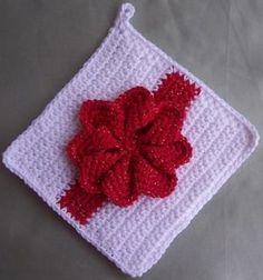 Crochet Christmas Potholder