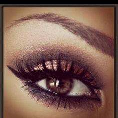 Beautiful eye make- up