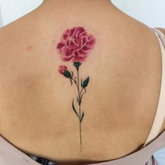 Carnation Thanks Andrea @iristattooart
