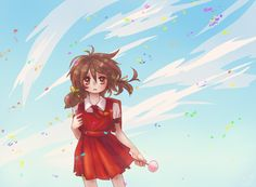 love her voice. i think Yuki is serious child. Loli Kawaii, Kawaii Chibi, Anime Chibi, Anime Art, Vocaloid, Kaai Yuki, Servant Of Evil, Chibi Girl, Red Roses