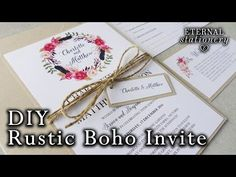 Diy gold foil wedding invitations rustic watercolour succulents diy wedding invitation rustic style youtube solutioingenieria Images