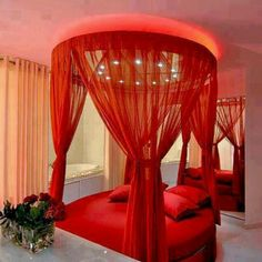 Red Bedroom Ideas For Couples 734 best romantic bedrooms images on pinterest | bedrooms, canopy