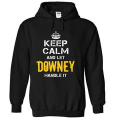Keep Calm Let DOWNEY Handle It - #wedding gift #coworker gift. SAVE => https://www.sunfrog.com/Funny/Keep-Calm-Let-DOWNEY-Handle-It-Black-Hoodie.html?68278
