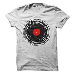(Best Discount) Spinning vinyl t-shirt - Buy Now