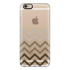 iPhone 6 Plus/6/5/5s/5c Case - Empire Gold Art Deco Chevron Fade... ($40) ❤ liked on Polyvore