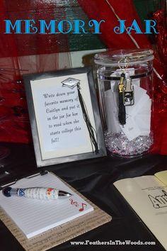 Graduation party memory jar