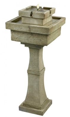 This Four Light Outdoor Water Fountain is part of the Cadet Collection and has a Sandstone Finish | Dulles Electric Supply Corp.