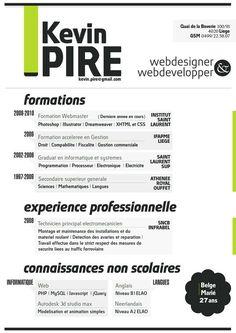 A cool resume for web designer