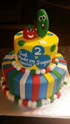 Veggie tales birthday cake