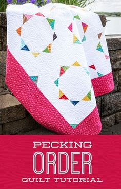 Learn to create this darling Pecking Order Quilt! Star Quilt Patterns, Star Quilts, Scrappy Quilts, Mini Quilts, Quilt Blocks, Missouri Star Quilt Pattern, Quilting Fabric, Missouri Quilt Tutorials, Quilting Tutorials