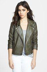 BB Dakota 'Dita' Faux Leather Moto Jacket