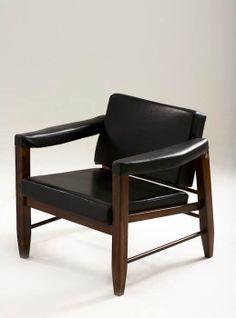 Mobiliário Moderno Nacional Móvel: Rosewood and Leather Lounge Chair Designer(s): Lucio Costa Ano: 1960 Características: Uso de madeira nacional; simplicidade construtiva;