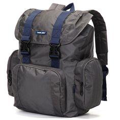 Velký šedý cestovní batoh - Travel plus 7503 c433c19a9b