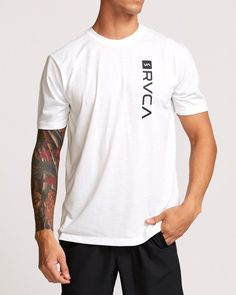 RVCA RVCA Box SS Tee – Mainland Skate & Surf Maintenance Logo, Mens Tee Shirts, T Shirt, Skate Surf, Train Hard, Shirt Designs, Fabric, Cotton, Men's Clothing