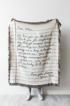 Mom Gifts Discover Love Letter Blanket: Personalized Fathers Day Gift Woven Throw for Mom Dad Grandparents Wedding Graduation or Anniversary Present Love Letter Blanket: Personalized Mothers Day Gift Woven Sentimental Gifts For Mom, Valentine Love, Valentine Gifts For Mom, Kids Valentines, Personalized Fathers Day Gifts, Personalized Jewelry, Love Letters, Cute Gifts, Funny Gifts