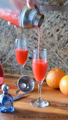 Strawberry Grapefruit Mimosas (8 of 1) by Serena Bakes Simply From Scratch, via Flickr