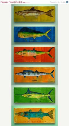 Saltwater Fish Series Large by johnwgolden