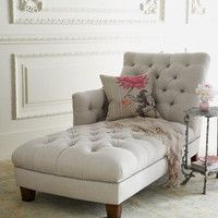 """""""Maddox"""" Tufted Chaise - Horchow Love these chairs for reading, napping or whatever."""