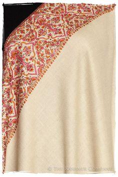 La Orange et Rose - Grand Pashmina Shawl Indian Textiles, Indian Fabric, Kashmiri Shawls, Dress With Shawl, Make Do And Mend, Cashmere Shawl, Pakistani Bridal Dresses, Pashmina Shawl, Paisley Pattern