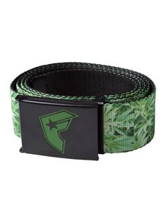 """Men's """"Herbs Wasted"""" Web Belt by Famous Stars & Straps (Black/Green)"""