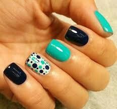 Get inspirations from these cool stylish nail designs for short nails. Find out which nail art designs work on short nails! Shellac Nails, Diy Nails, Nail Polish, Gel Nail Designs, Cute Nail Designs, Nails Design, Pedicure Designs, Turquoise Nail Designs, Turquoise Nail Art