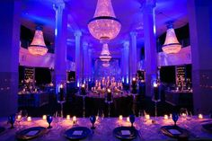 Full Room Shot- Southern Exchange (formerly 200 Peachtree) via the design team Bold American Events in Atlanta, GA