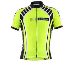Giordana Stripe Vero Short Sleeve Jersey Fluorescent - Summer Jerseys - Men's Cycling