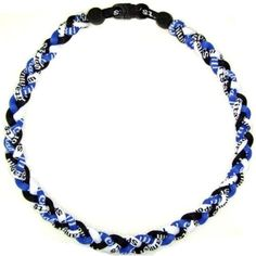 """2 Pack 18"""" Blue Black White Titanium Germanium Tornado Baseball Necklace by Titanium Sports. $9.54. Energy band works with our body's energy system, helping to regulate and balance the flow of energy throughout our body. Proper energy balance helps to alleviate discomfort, speed recovery and counteract fatigue. Athletes find that they have more stamina and recovery faster from intense physical activity. Further benefits of energy bands are more relaxed muscles leading to ..."""