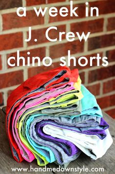 Hand Me Down Style: J. Crew chino shorts: a review of the week, outfits, and ways to wear