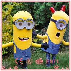 HI hot sale despicable me 2 minion mascot costume ,adult minion costume $90~$300