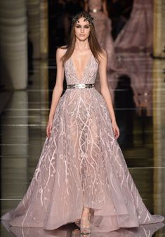 Catwalk Photos And All The Looks From Zuhair Murad Spring Summer 2016 Couture Paris Fashion Week Braelyn Higdon High Dresses
