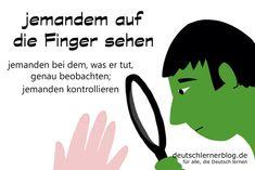 auf die Finger sehen - Redewendungen - Deutsch lernen